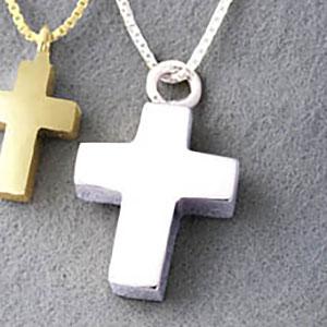 Am-Urn-Let, Kreuz mit Kette, Sterlingsilber (925)